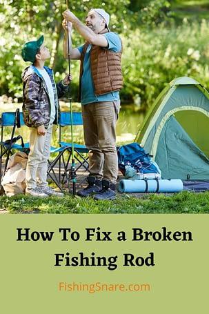 fix a broken fishing rod